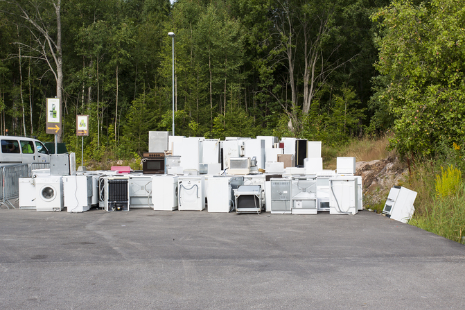 Dumped Whiteware Appliances